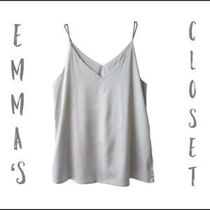 Grey silk camisole